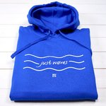 Just-Waves-Hoodie, meerblau / unisex